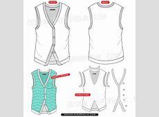 Vest vector template | hellovector Fashion Illustration Templates Men