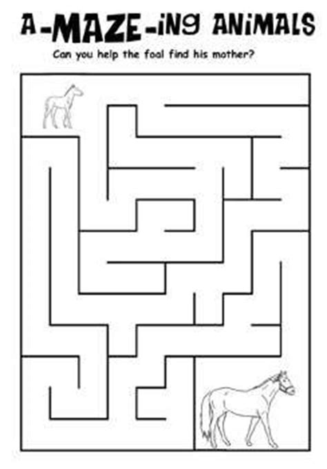 printable horse maze 194 best images about kids worksheet mazes on pinterest