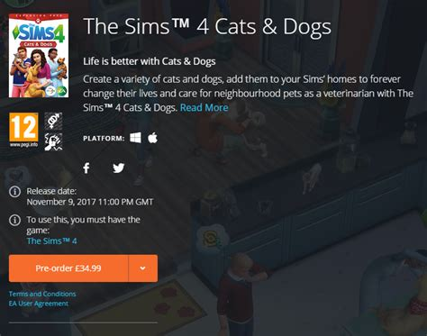 the sims 4 cats and dogs pre order the sims 4 cats and dogs now available 10th november sims