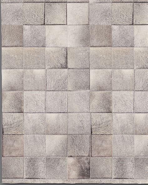 Cowhide Tile Rug South American Cowhide Tile Rug Grey