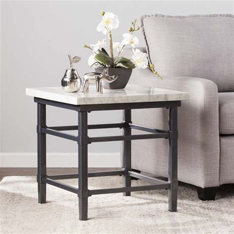 faux marble end table southern enterprises tulane faux marble top end table in