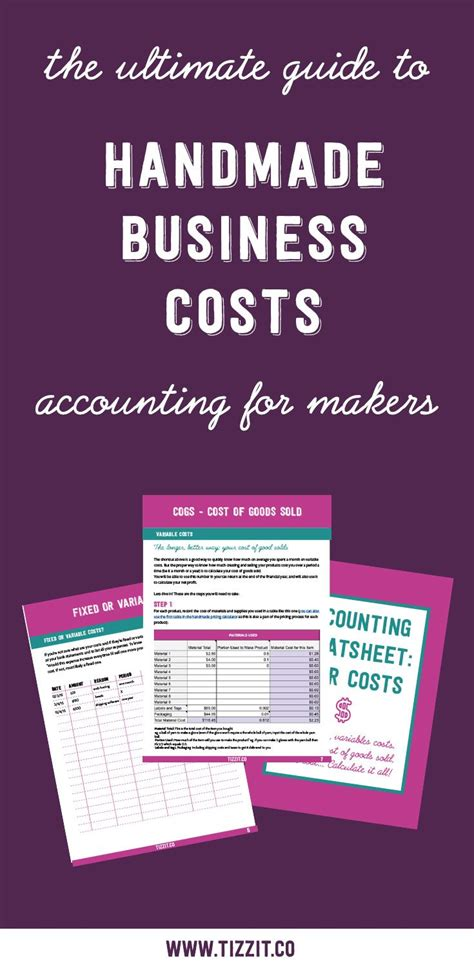 Handmade Business - handmade business costs everything you need to tizzit