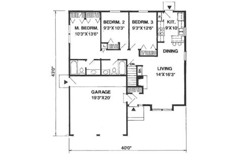 1100 sq ft traditional style house plan 3 beds 2 baths 1100 sq ft