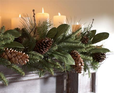 fireplace garland christmas fun pinterest