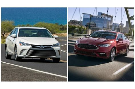 compare ford fusion to toyota camry ford fusion vs toyota camry to u s news