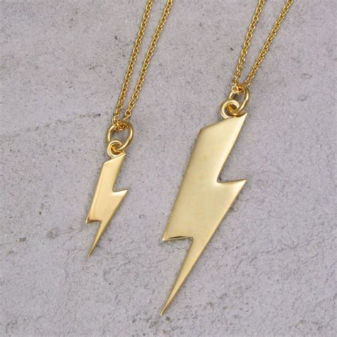 lightning bolt necklace by black pearl