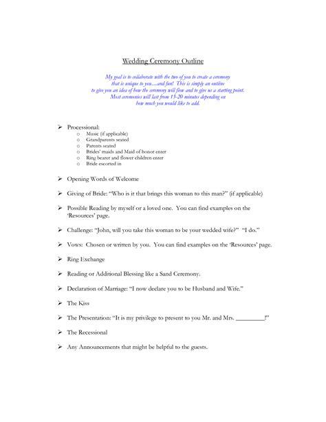 layout of a wedding speech wedding ceremony outline wedding ceremony ideas