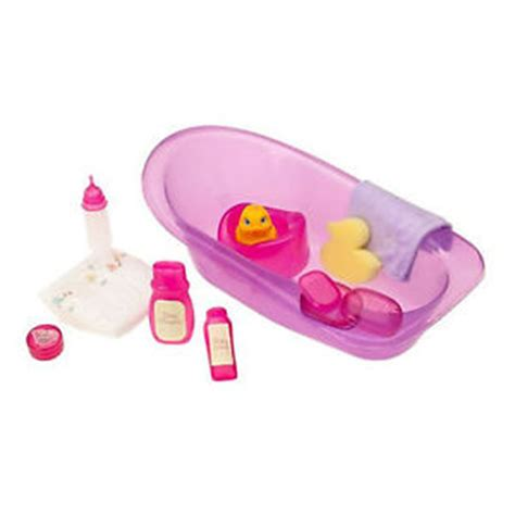 bitty baby bathtub kids baby doll bathtub bath tub toy bottle diaper set