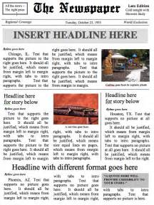newspaper template for word buildanewspaper easy to use newspaper templates