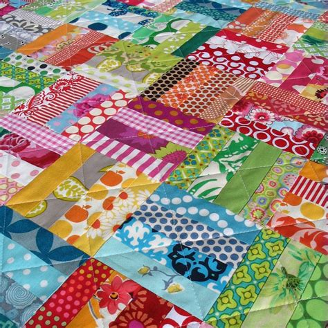 Scrap Patchwork - colorful patchwork scrap quilt by redpepperquilts on etsy