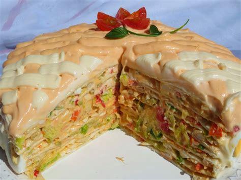 pastel salado thermomix tarta salada de tortitas thermomix