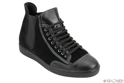 mens designer black boots mens black brown suede leather high top designer style