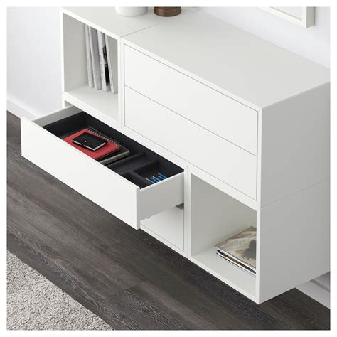 Wall Mounted Ls Ikea by Eket Wall Mounted Cabinet Combination White 105x35x70 Cm Ikea
