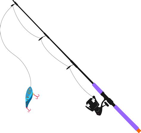 Rod Clipart by Fishing Pole Png Transparent Free Images Png Only