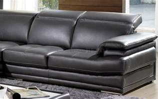 Leather Sectional Reclining Sofa Charcoal Leather Sofa Recliner Grey Genuine Italian Leather Modern Sectional Sofa