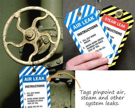 air tags air leak tags steam leak tags work order tags
