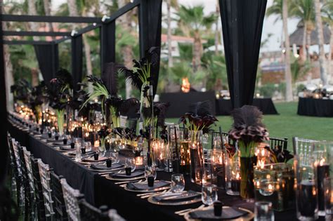 wedding tablescapes with candles 2 picture of black wedding tablescape