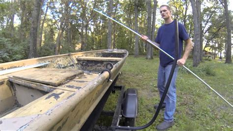 duck boat heater how to build a diy rock solid duck boat blind kit youtube