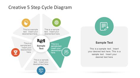Creative 5 Step Cycle Diagram For Powerpoint Slidemodel Creative Diagrams