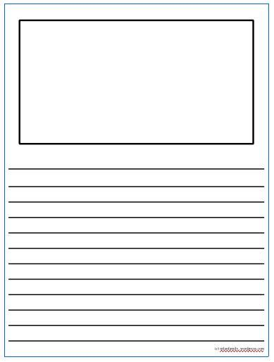 printable narrative writing paper 29 images of draw and write blank template infovia net