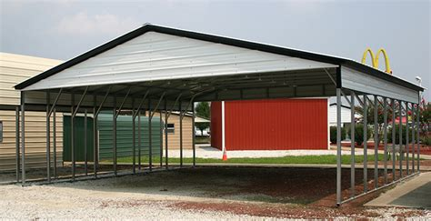 carport outlet 28x41 vertical wide metal carport alan s factory