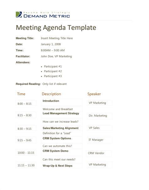 Agenda Template Word Exle Mughals Sle Event Agenda Template