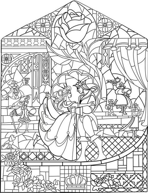 the grand nature therapy coloring book books coloriage adulte princesses vitrail 4