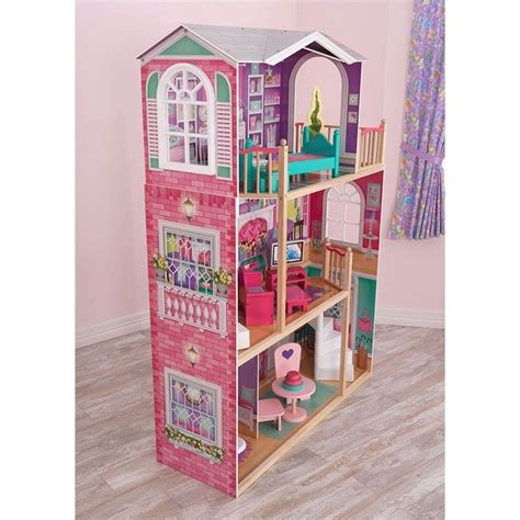kidkraft 18 inch doll house kidkraft elegant 18 inch doll manor with furniture 65830