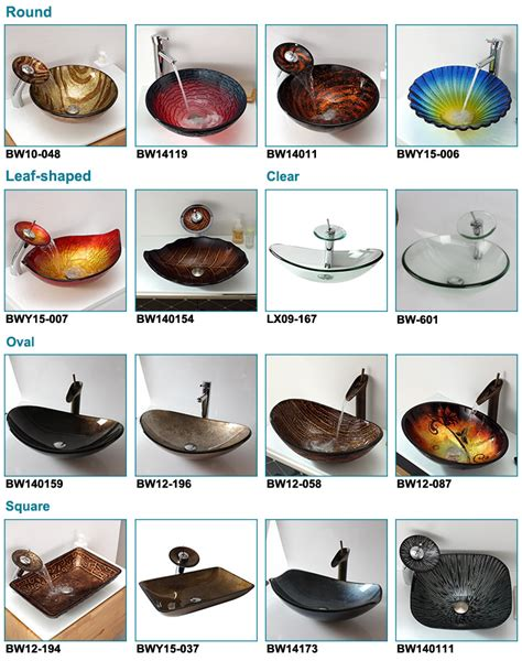 Type Of Faucet Leaf Shape Golden Colour Fiber Glass Sink Counter Tops