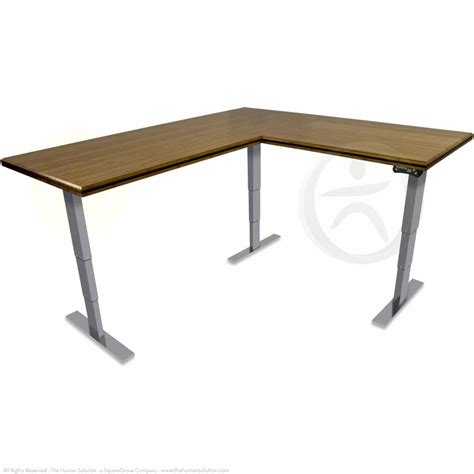 Shop Uplift 950 Premium Bamboo L Shaped Ergonomic Desks L Shaped Standing Desk