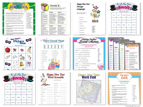 printable games for new years eve party printable new years party games new year s eve party