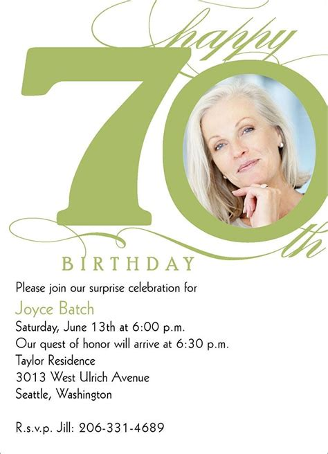 70 birthday invitation template 70th birthday iinvitations invitations templates