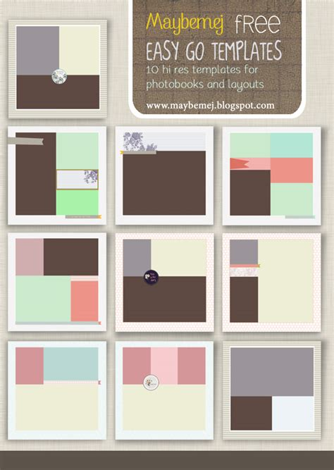 photo book template psd template