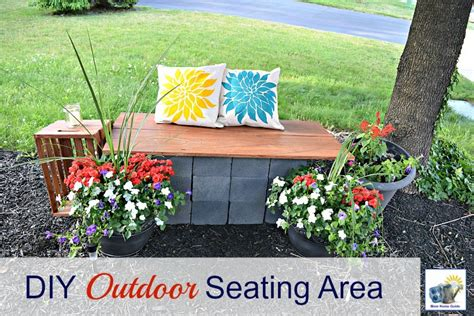 diy outside seating area diy outdoor seating home design ideas home design ideas