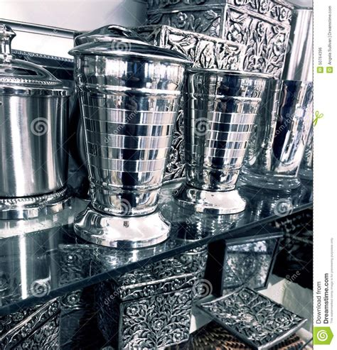 silver home decor fancy silver home decor items stock photo image 50764396