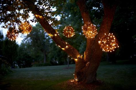 tree lights outdoor diy creating character with outdoor lighting soulful abode