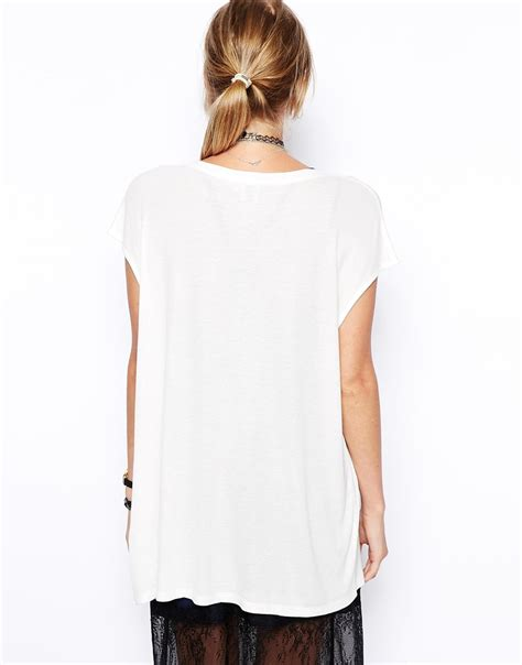 Slouchy Tank Tops by Asos Slouchy Rib Tank Top In Lyst