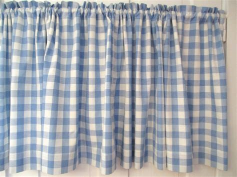 cotton cafe curtains vintage blue white gingham cafe curtain cotton lined