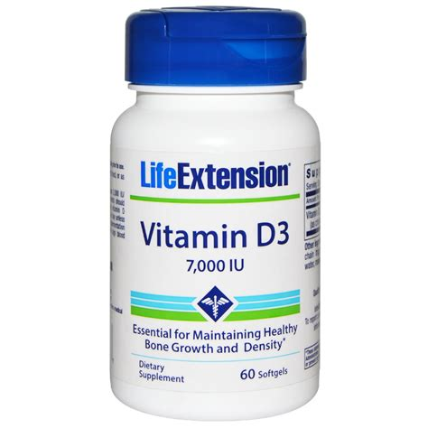 Vitamin D3 extension vitamin d3 7 000 iu 60 softgels iherb
