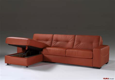 leather futon with storage corner sofa bed in leather with storage