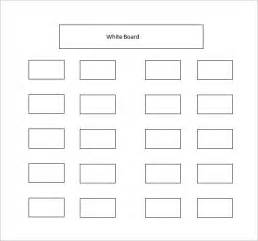 table seating chart template classroom seating chart template 10 exles in pdf