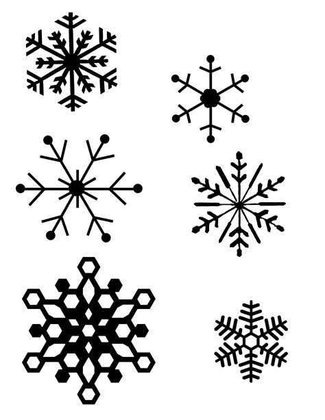 snowflakes designs printable simple snowflakes clipart best