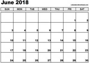 2018 Calendar For June June 2018 Calendar Monthly Calendar 2017