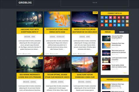 grid layout wordpress theme 50 best responsive wordpress themes templates design