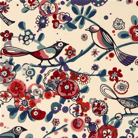 tessuti fiorati beiger vogel paradies stoff larkspur henry usa