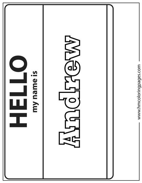 coloring pages of the name andrea andrew coloring page h m coloring pages