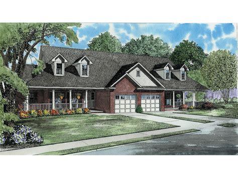 candlewick park duplex home plan   house plans