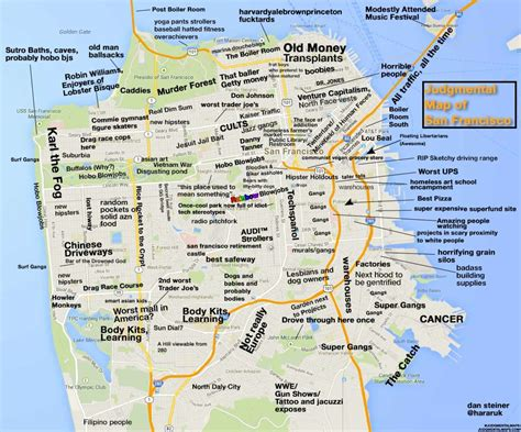 map san francisco vancouver judgmental map of san francisco shows you how to avoid
