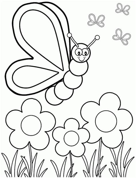 Printable Spring Coloring Pages Kindergarten Coloring Home | printable spring coloring pages kindergarten coloring home