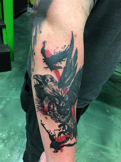 trash polka raven by ashley bubbles mcbride tattoonow